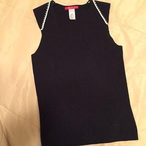Anne Klein sleeveless back pull over top